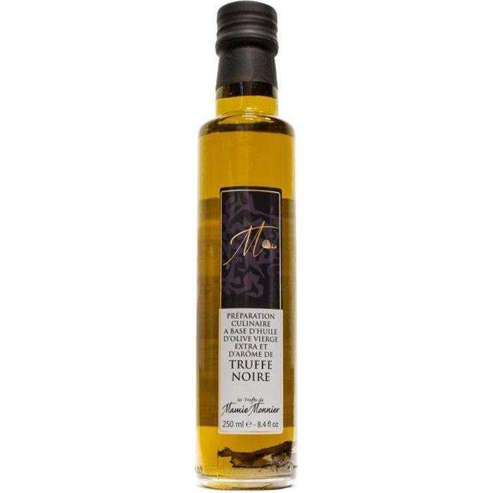 Huile d'olive extra-vierge, à la truffe noire, avec morceaux (250 ml)