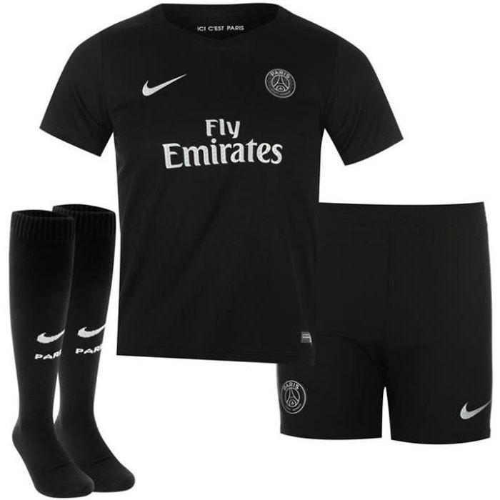 Mini-Kit Enfant Saison 2015/2016 PSG Paris Saint Germain Noir Third