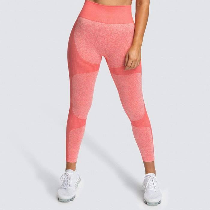 Taille haute pantalons de sport Leggings Yoga sans couture femmes Fitness solide athlétique entraînement longs collants de