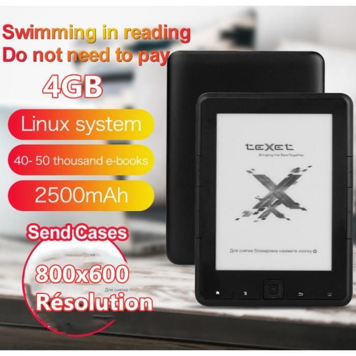 Ofeli 4Gb Ebook Lecteur E ink 6 pouces Résolution 800x600 Livre Lecteur E ink Ereader