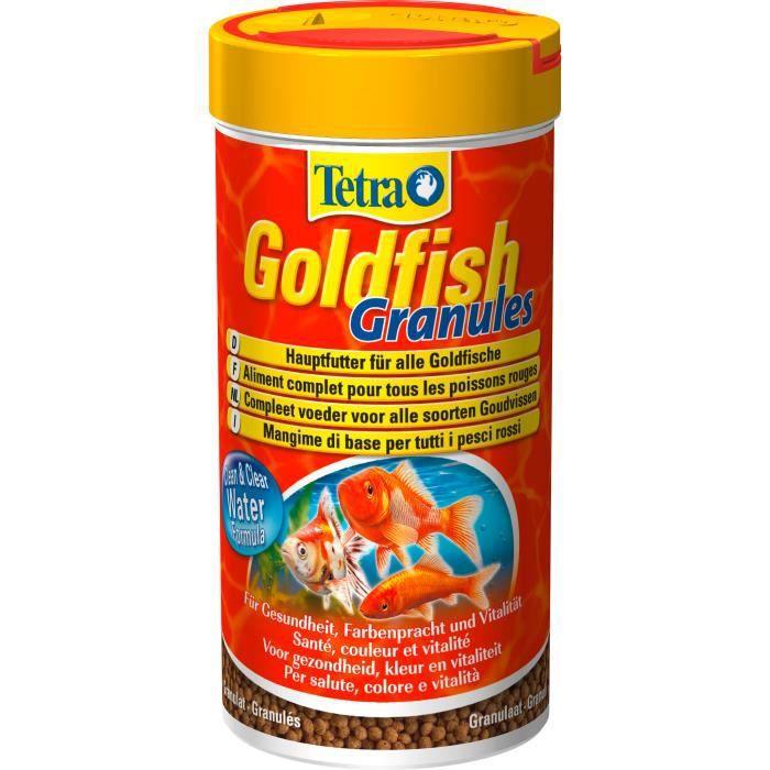 TETRA Goldfish Aliments premium complet pour les poissons rouges en granulés - Favorise la santé - 250 ml