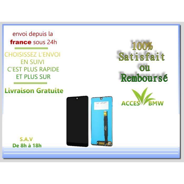 Ecran LCD + Vitre Tactile Wiko Pour View 2 - Noir