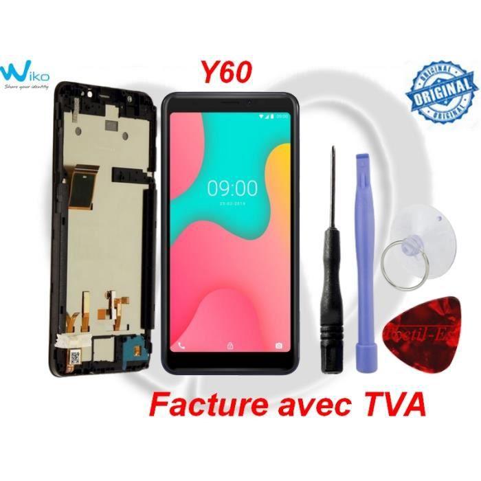 WIKO Y60 Original Ecran Complet LCD + Vitre Tactile sur Châssis + outils-Tactil Est