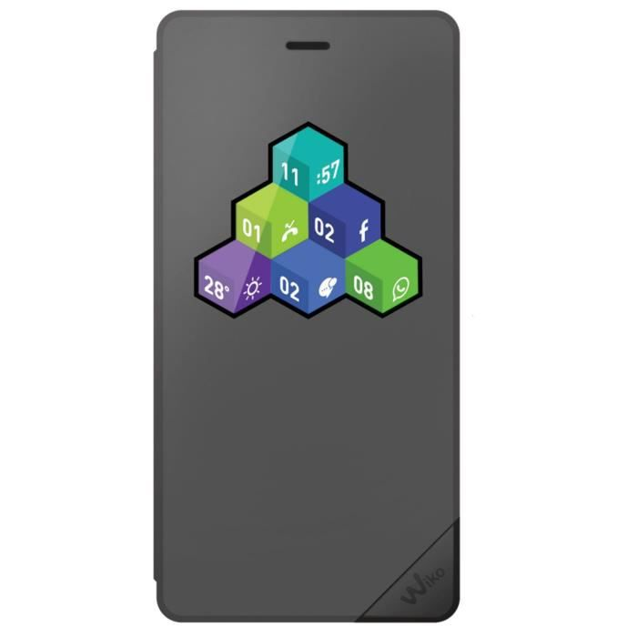 Wiko Folio Wicube Tommy Gris Anthracite