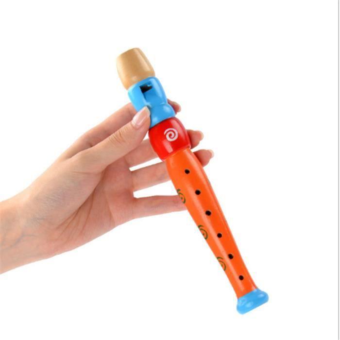 Fl/ûte en bois Jouet /éducatif de Musique pour Enfants