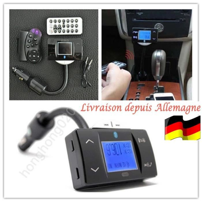 bluetooth voiture mains libres x 02 transmetteur lecteur mp3 transmetteur fm t l phone achat. Black Bedroom Furniture Sets. Home Design Ideas