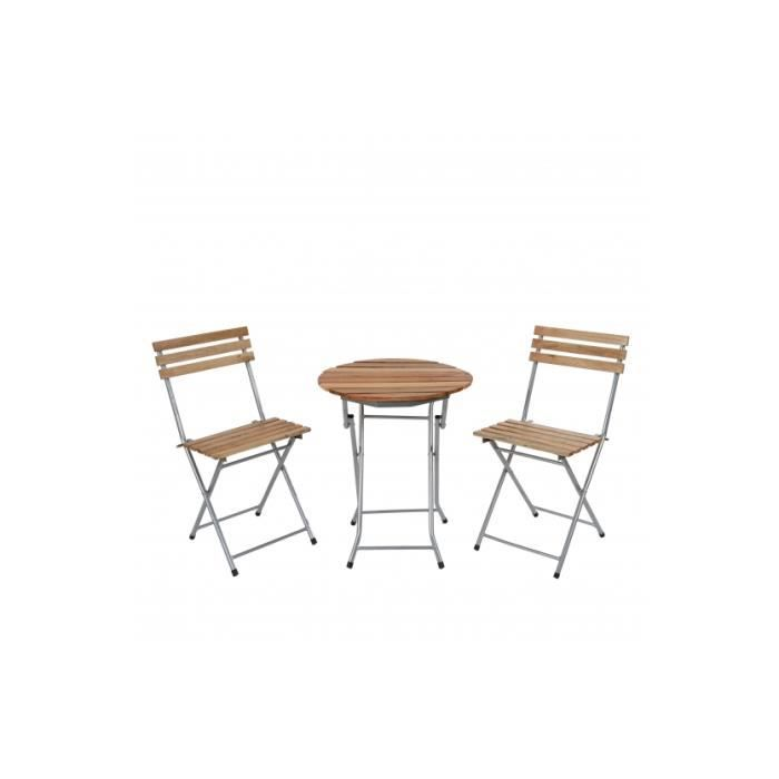 Ensembe table bistrot avec 2 chaises pliable achat vente salon de jardin ensembe table Table de jardin pliable cdiscount