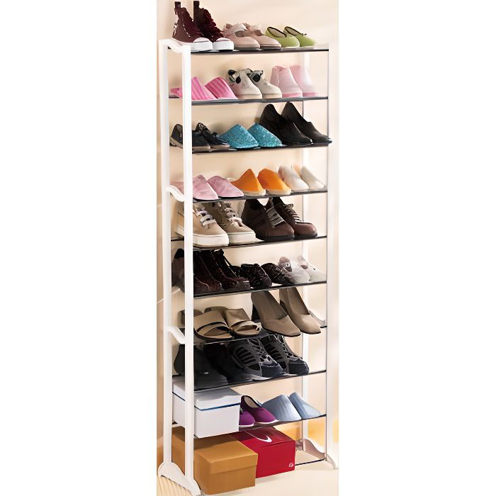 etagere chaussure 30 paires achat vente meuble chaussures etagere chaussure 30 paire. Black Bedroom Furniture Sets. Home Design Ideas