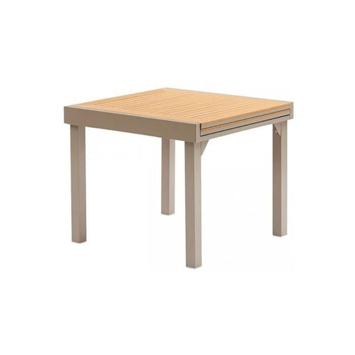 Table de jardin Modulo extensible L90 Polywood Taupe 76 - Achat ...