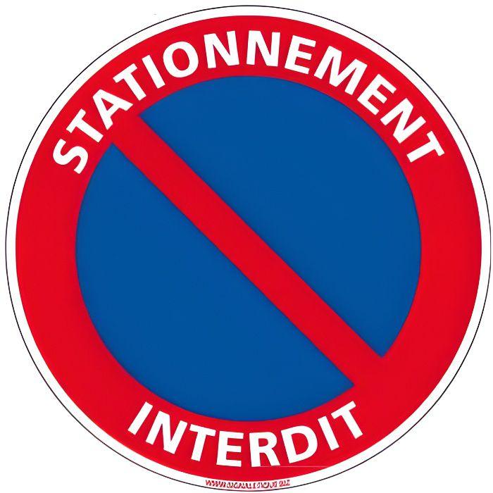 2 DISQUE PANNEAU SIGNALISATION NE PAS STATIONNER EMPLACEMENT RESERVE ° 300 M PVC
