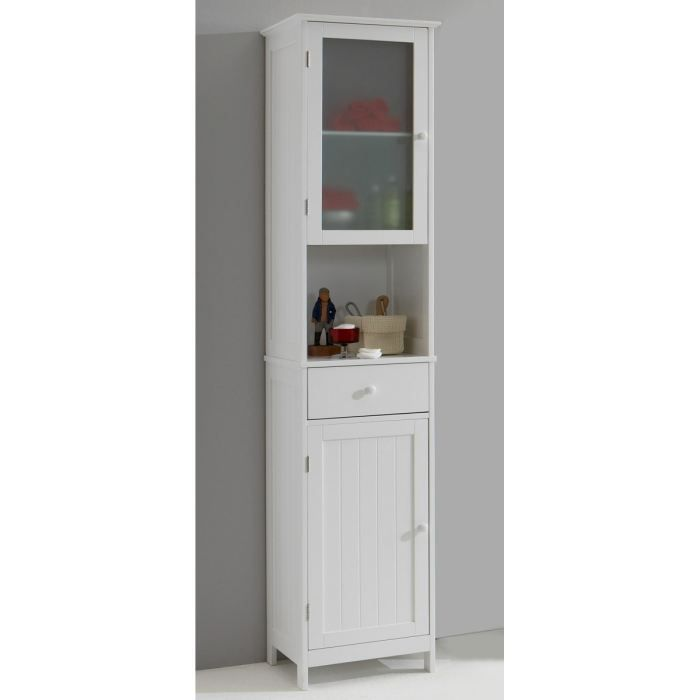 stockholm colonne de salle de bain 40 cm blanc laqu mat achat vente colonne armoire sdb. Black Bedroom Furniture Sets. Home Design Ideas