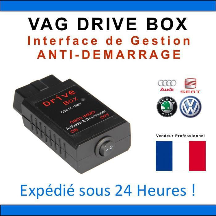 interface anti d marrage vag drive box bosch edc15 et me7 immo vag com achat vente. Black Bedroom Furniture Sets. Home Design Ideas
