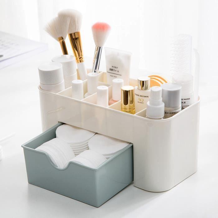 la cuisine la salle de bain MISSLO Organiseur de tiroir s/éparateur en plastique acrylique pour le maquillage les bijoux le plateau de rangement transparent Lot de 7