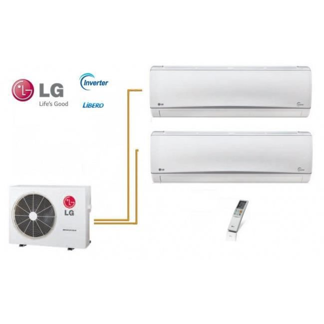Super pack lg mural libero bi split mu3m21 ue2 2 x for Climatisation split mural