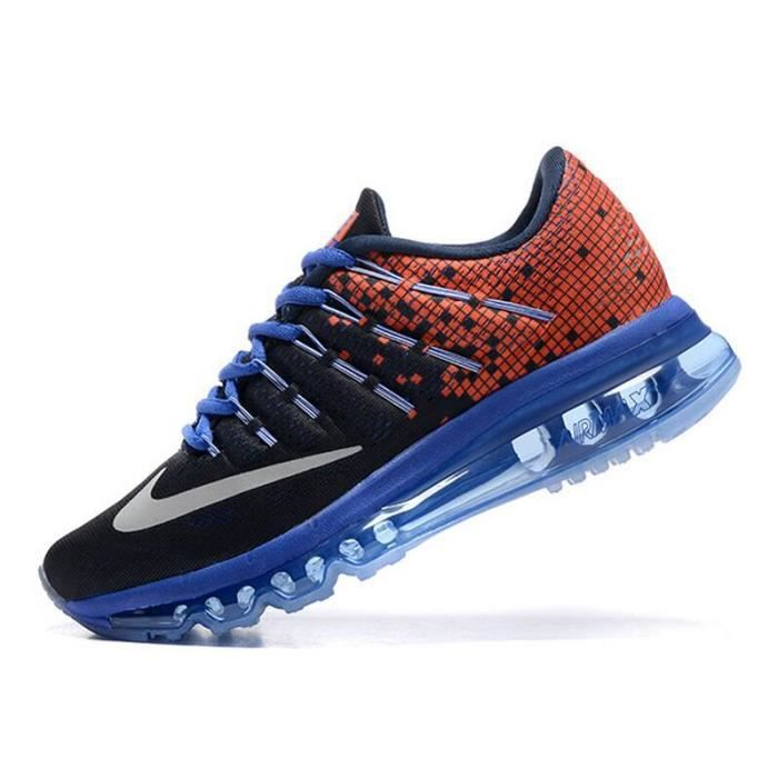 wmns nike air max 2016 femme running chaussures de sport basket noir rouge et bleu tu achat. Black Bedroom Furniture Sets. Home Design Ideas