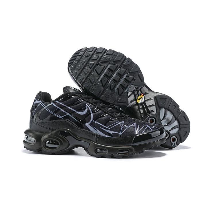 Basket Nike Air Max Plus TN TXT Chaussures Homme Entraînement Noir ...