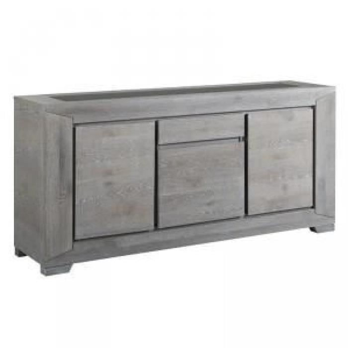 paris prix buffet 3 portes spark gris achat vente. Black Bedroom Furniture Sets. Home Design Ideas