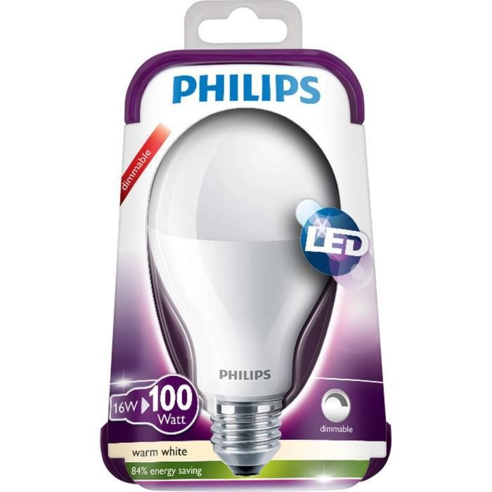 philips ampoule led e27 16w quivalence 100w achat vente ampoule led les soldes sur. Black Bedroom Furniture Sets. Home Design Ideas