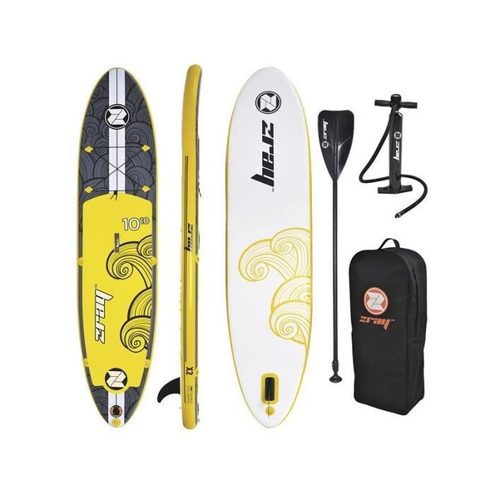 stand up paddle gonflable zray x2 avec sac de transport pagaie pompe haute pression. Black Bedroom Furniture Sets. Home Design Ideas