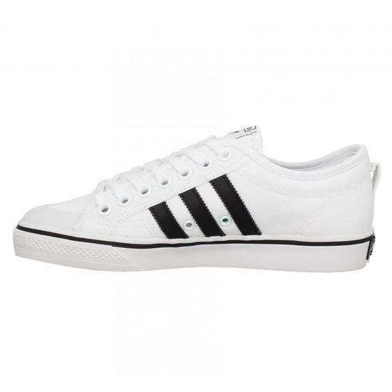 Baskets ADIDAS Nizza toile Homme-40-Blanc Blanc - Cdiscount Chaussures