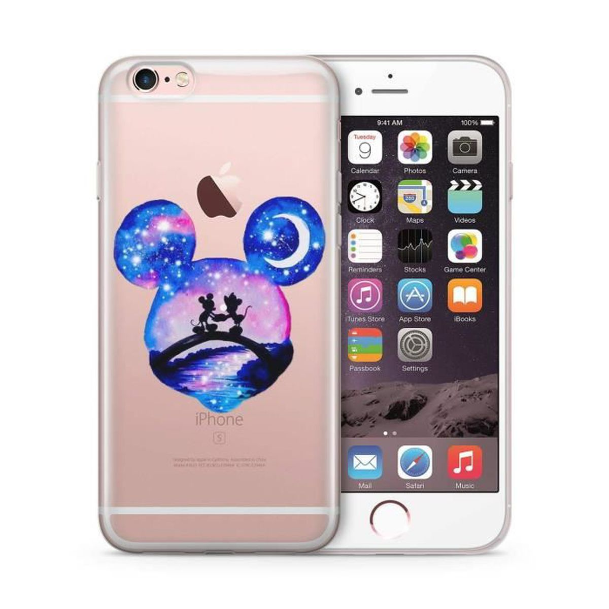coque iphone 5 5s sillicone disney mickey etui hou