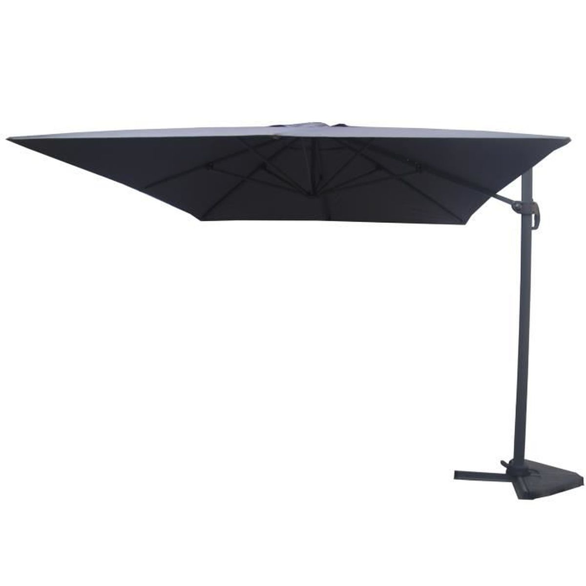 parasol d port 3x4m davidof gris achat vente. Black Bedroom Furniture Sets. Home Design Ideas