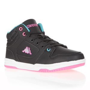 BASKET KAPPA Baskets Karter Mid - Enfant- Noir Turq Rose