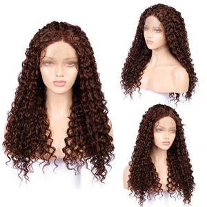 PERRUQUE - POSTICHE Longue pleine onduleux Lace Front perruque Afro Ki