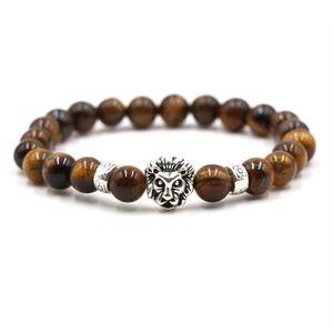 BRACELET - GOURMETTE Bracelet homme - Titane acier + pierre d'oeil de t