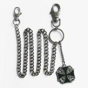 PORTEFEUILLE chaine de portefeuille croix malte noir cranes bik