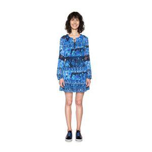ROBE Desigual Robe Femme Linda Bleu 18SWVWD8