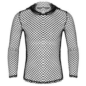 T-SHIRT T-shirt Resille Homme Sexy Sweat à Capuche Top Tra