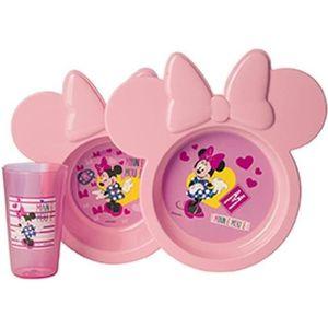 USTENSILES BÉBÉ DISNEY Coffret repas 3 pieces Minnie Pink Girl - A