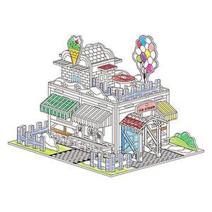 Maison En Carton A Colorier Achat Vente Jeux Et Jouets Pas Chers