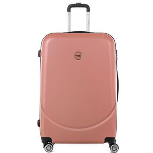 VALISE - BAGAGE TRAVEL WORLD Trolley Case XXL 80cm avec 4 roues Or