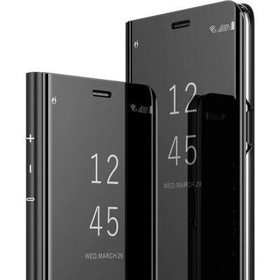 Coque Samsung Galaxy S9,Clear View Etui à Rabat Cover Flip Case Etui Housse Miroir Antichoc Coque pour Samsung Galaxy S9 noir