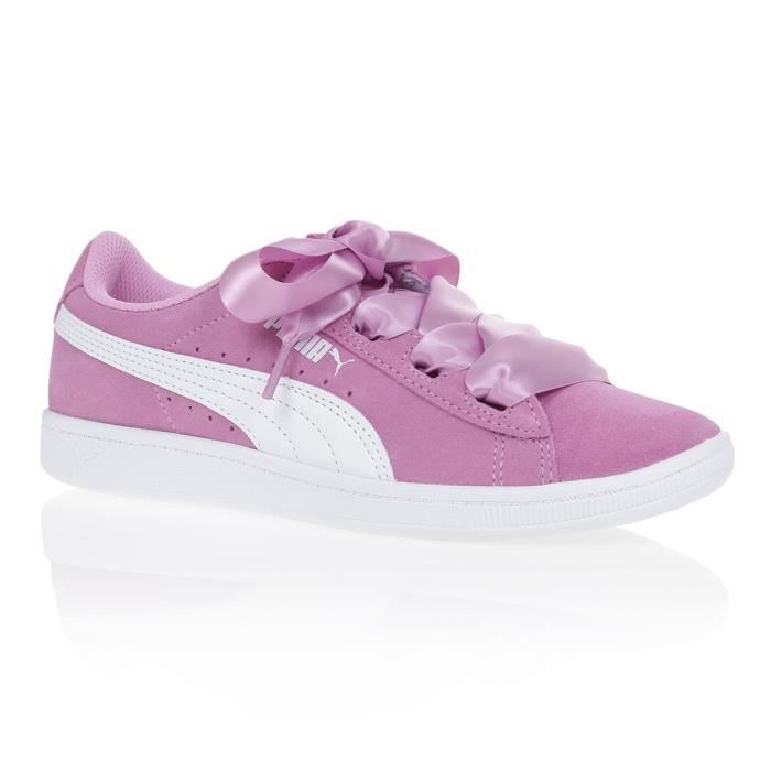 PUMA Baskets Vikky Ribbon Jr Enfant fille Rose