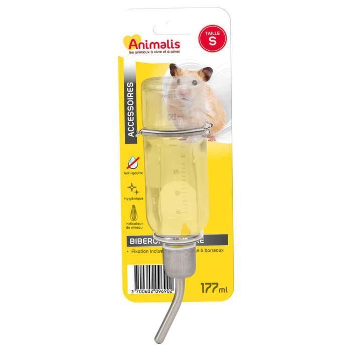 Animalis - Biberon en Verre S pour Rongeurs - 177ml