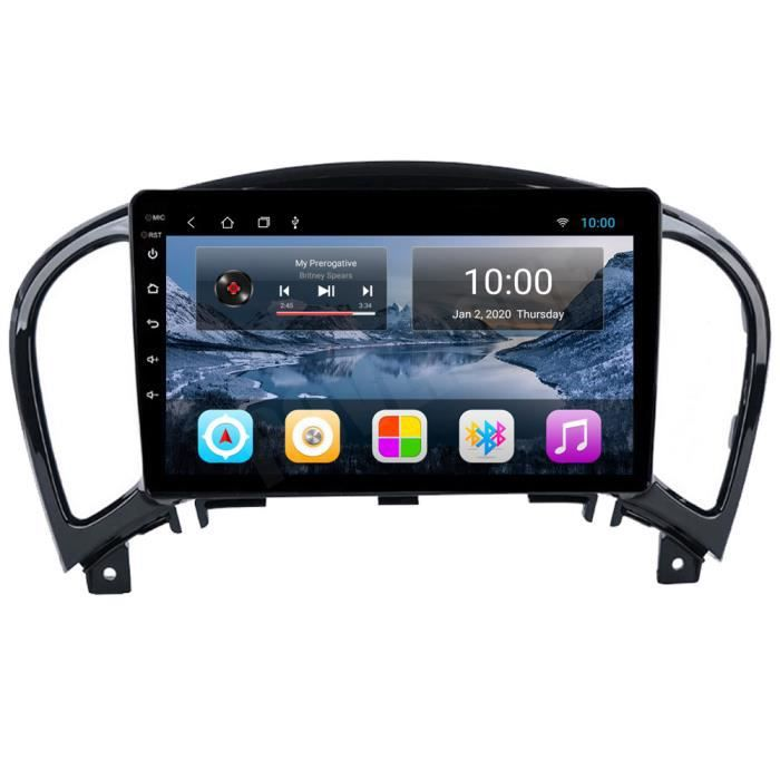 RoverOne Autoradio GPS Bluetooth pour Nissan Juke YF15 2010 2011 2012 2013 2014 Android Stéréo Navigation WiFi Écran Tactile
