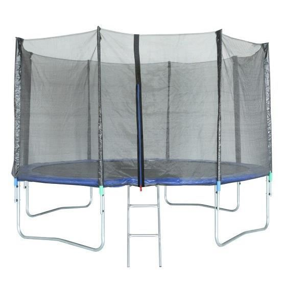 Trampoline 427 cm Noir TRIGANO Échelle et filet de protection inclus