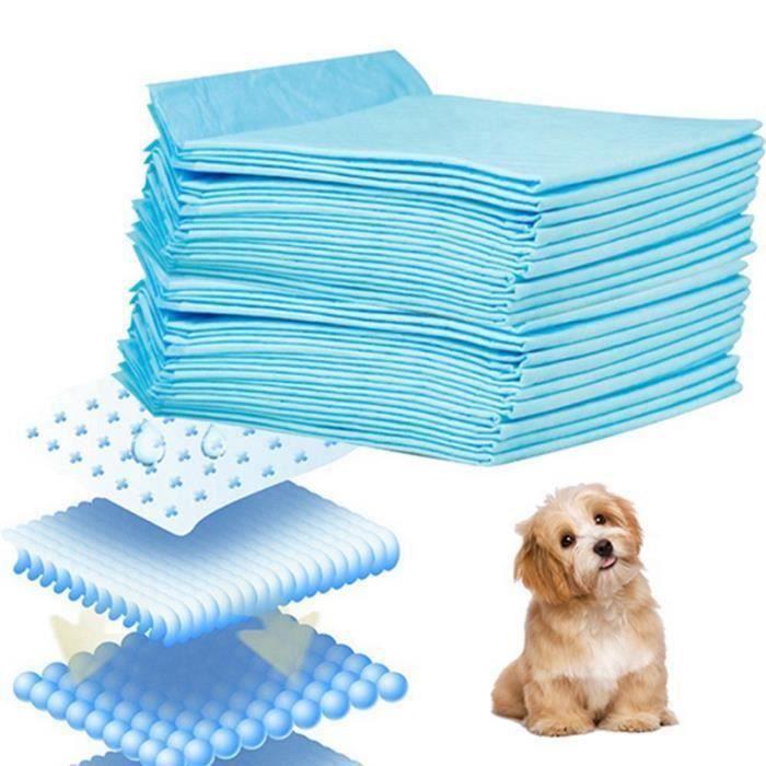 Tapis Educateurs Pet Alèse 50Pcs 60x45cm Super-absorbance apprentissage de proprete Formation Pads Toilettes Pour Chien