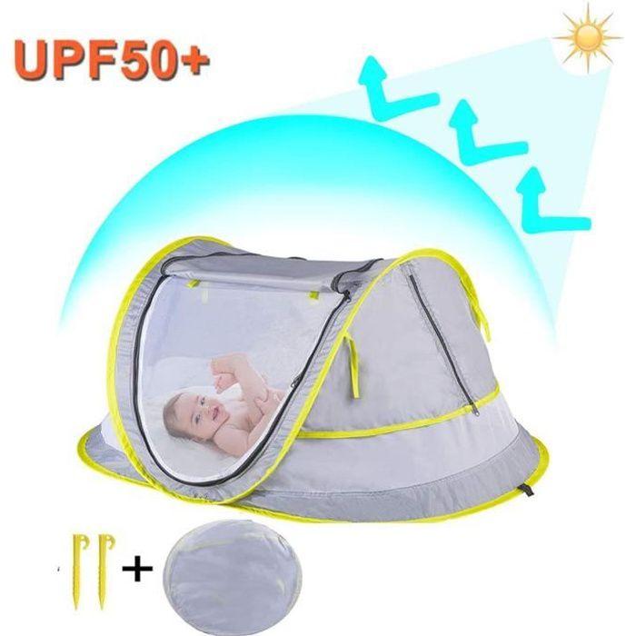 Tente Anti UV Bébé Lit de Voyage, Bébé Tente de Plage Bébé Anti-UV Moustiquaire Tente Bébé de Maison Sommeil