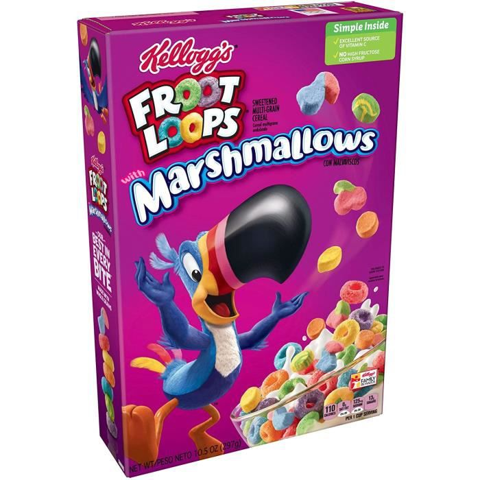 KELLOGG'S CEREALS FROOT LOOPS WITH MARSHMALLOWS