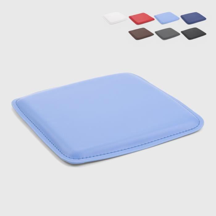 4 Coussins tabouret tolix en similicuir rembourré intérieur et extérieur 27x27 HOP - couleur:Turquoise