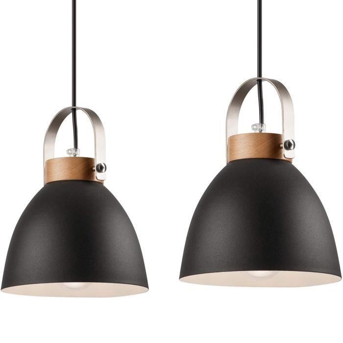 Luminaire suspendu - En métal E27 - Vintage - Moderne - Style industriel - Pour salon avec câble, cuisine, bureau et cabinet