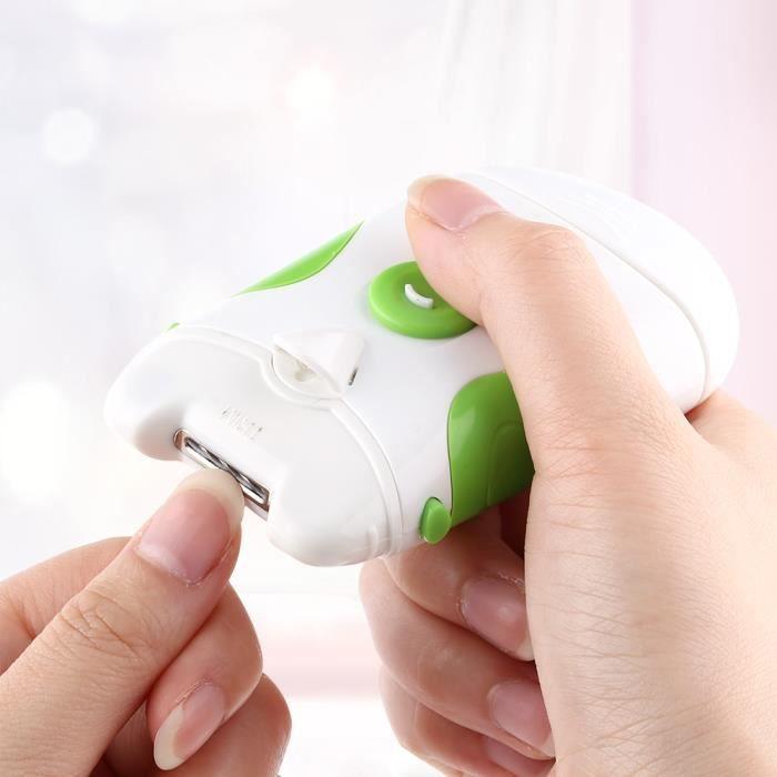 Lime à ongles électrique, coupe-ongles électrique 2 en 1, coupe-ongles, pour ongles manucure