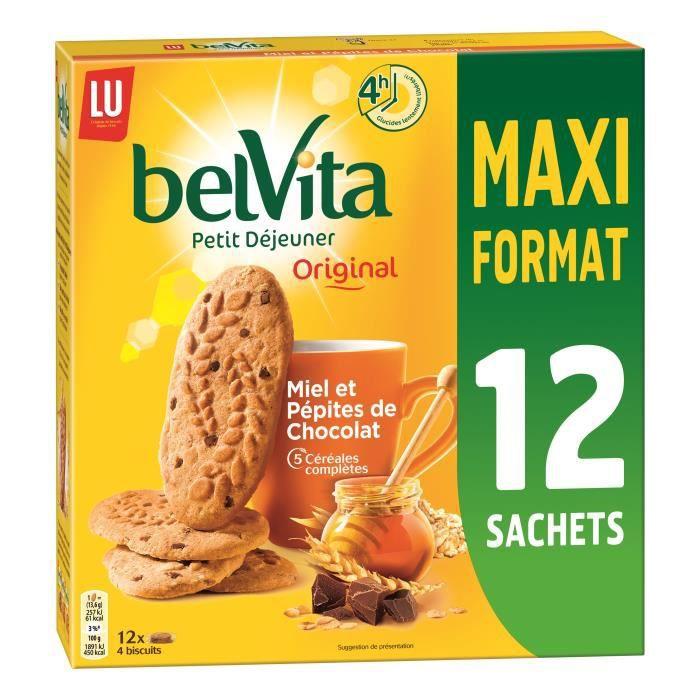 Belvita Miel et Pépites De Chocolat Maxi Format 650g