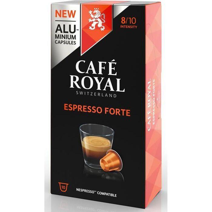 CAFE ROYAL compatible Nespresso Alu Espresso Forte x10