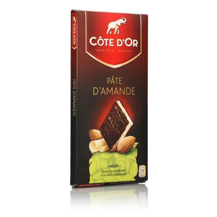 COTE D'OR Chocolat Noir fourré à la Pâte d'Amande - 150 g