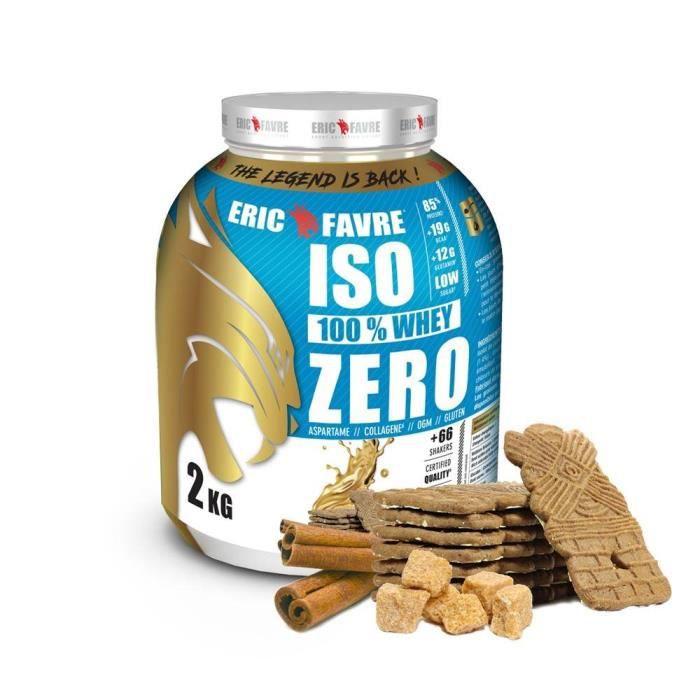 Iso Zero 100% Whey Protéine - Eric Favre Speculoos